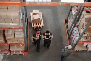 Workers of a freight forwarding company
